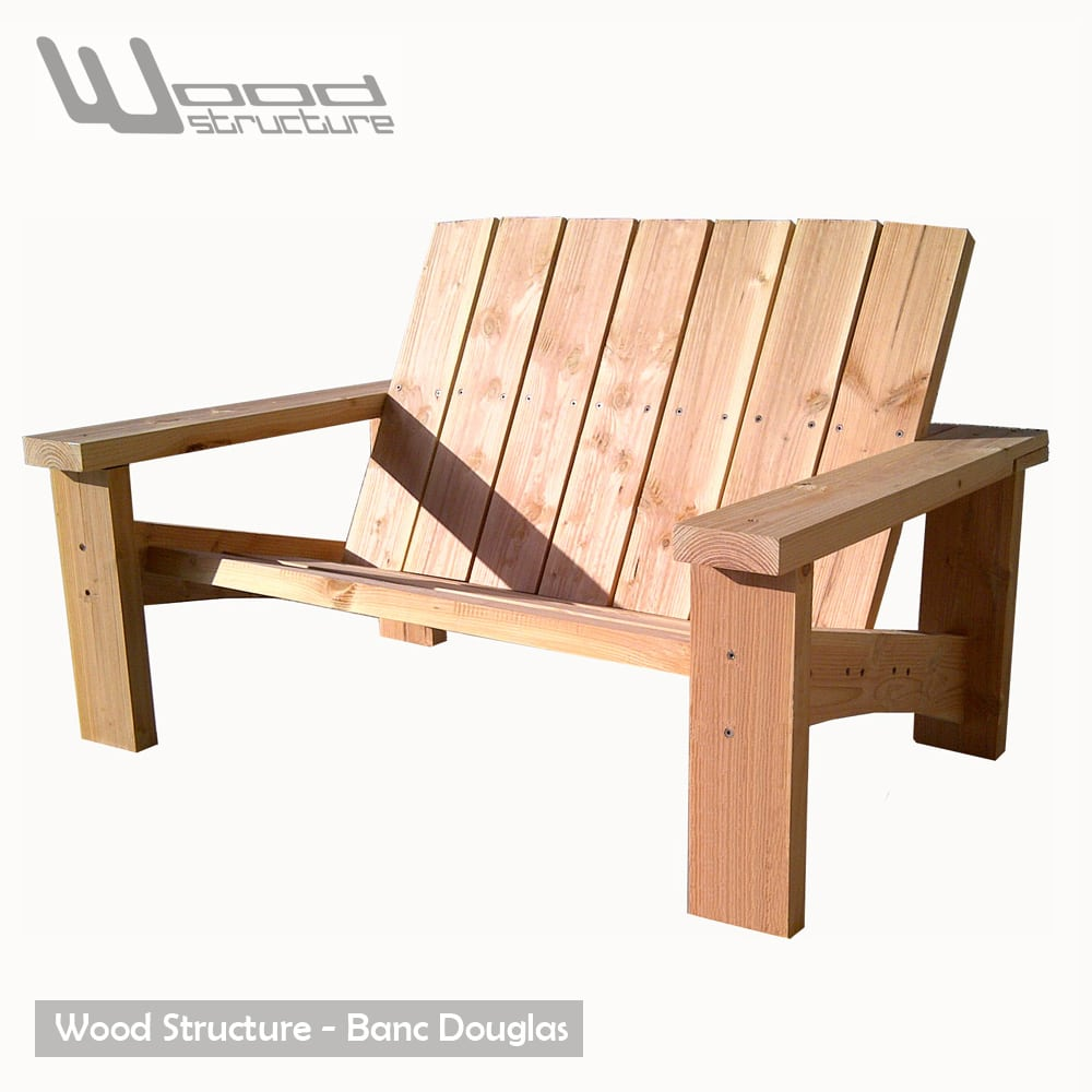 Banc douglas banc de jardin wood structure for Banc de table en bois
