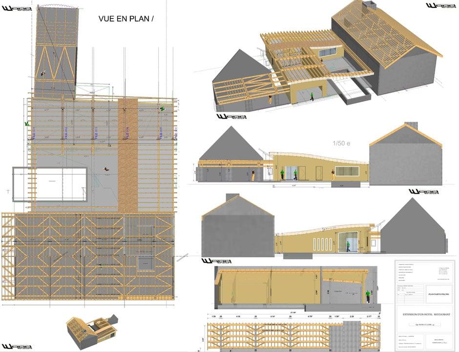 bureau etude bois wood structure. Black Bedroom Furniture Sets. Home Design Ideas