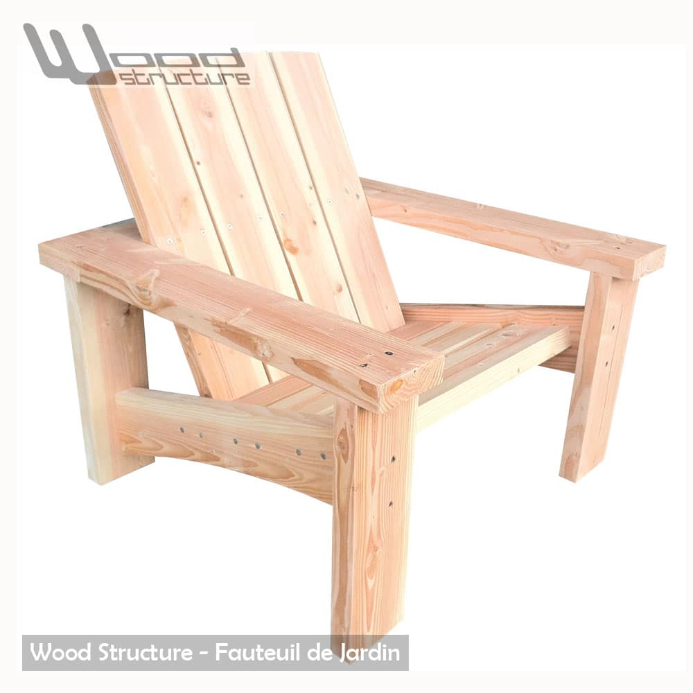 fauteuil douglas fauteuil de jardin wood structure. Black Bedroom Furniture Sets. Home Design Ideas