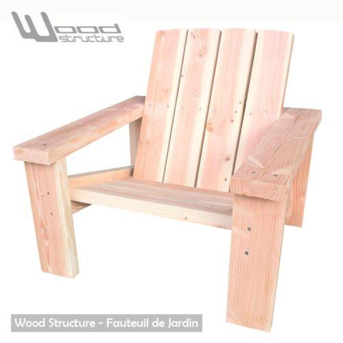 Fauteuil Douglas Design Wood Structure Fabriqu E En