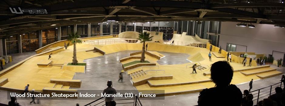 Wood structure fabricant de skatepark int rieur for Jardin couvert lyon