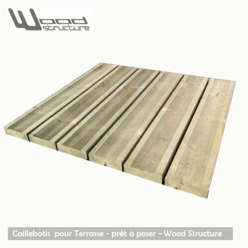 Caillebotis Bois pour Terrasse - Prêt à poser - Wood Structure