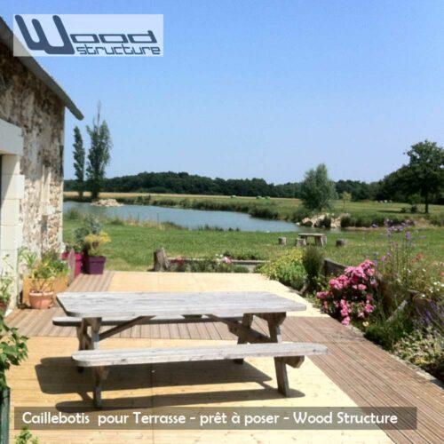 Caillebotis bois pour terrasse pr t poser wood structure - Caillebotis pour jardin ...