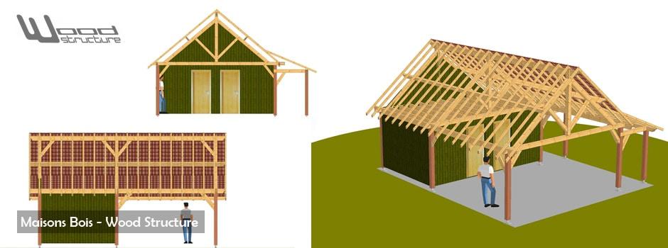maison bois en kit wood structure bureau etude construction bois sport et habitat. Black Bedroom Furniture Sets. Home Design Ideas