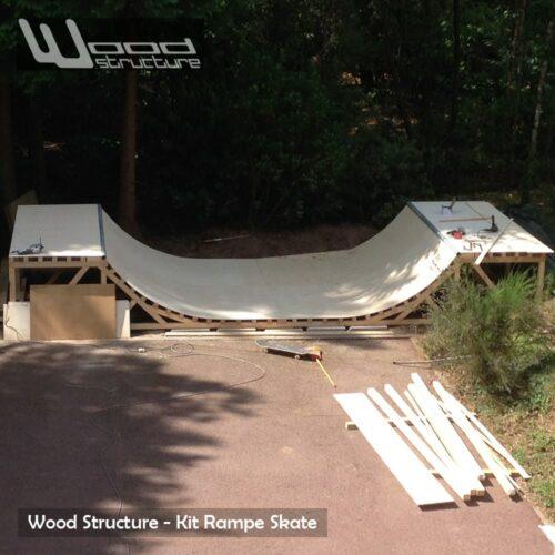 mini rampe skate 6 0 design wood structure. Black Bedroom Furniture Sets. Home Design Ideas
