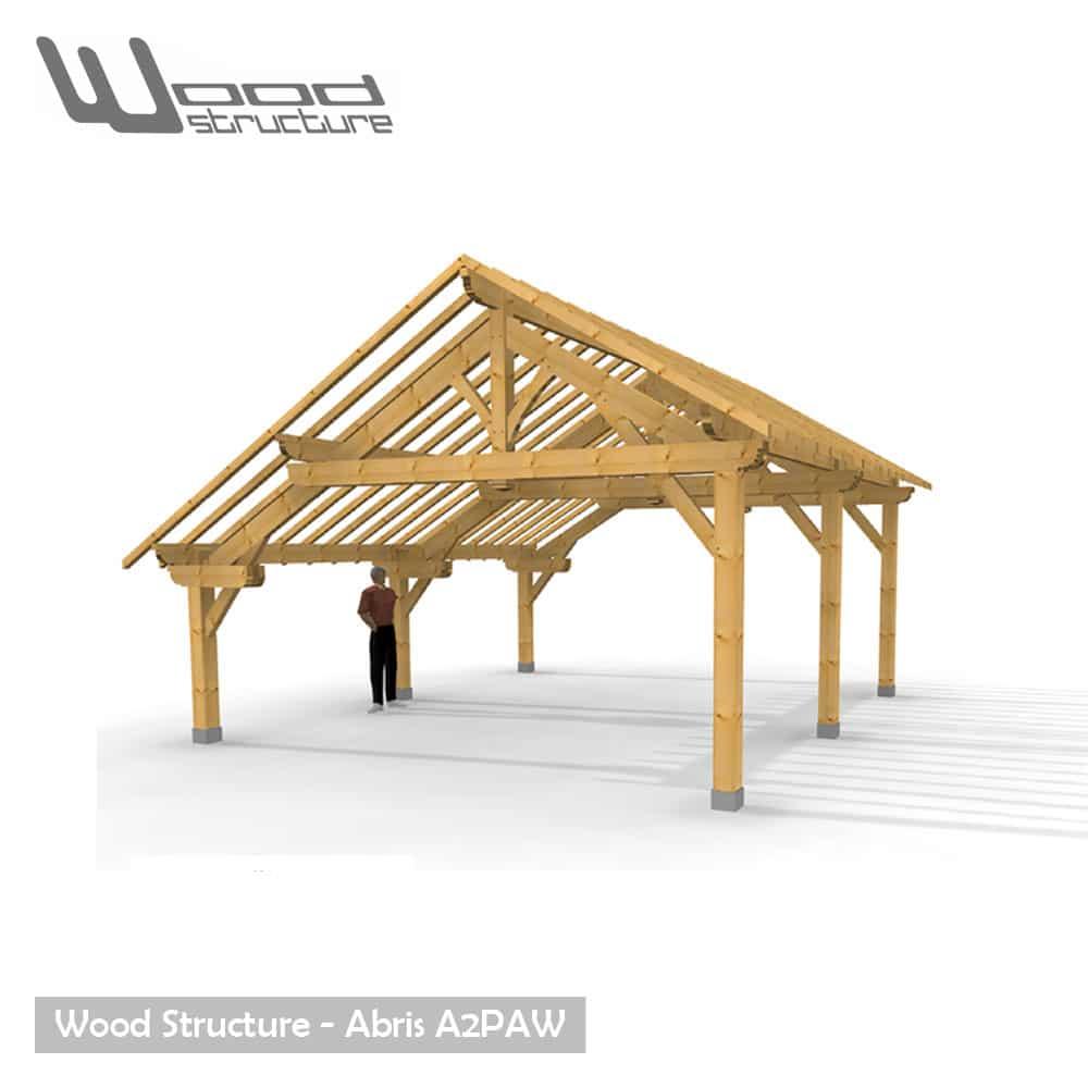 abris 2 pans asym trique charpente bois wood structure. Black Bedroom Furniture Sets. Home Design Ideas