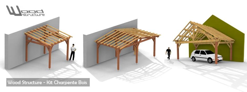 plan structure charpente bois. Black Bedroom Furniture Sets. Home Design Ideas