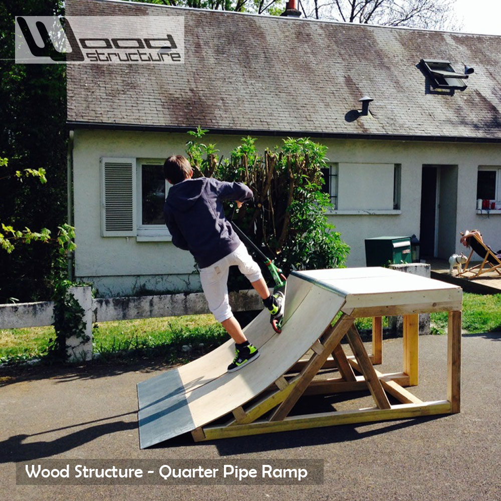 Quarter Rampe 30  Wood Structure Skatepark ~ Construire Une Rampe De Skate En Bois