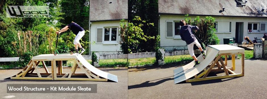 Module skate pr t monter wood structure skatepark for Bureau skate shop