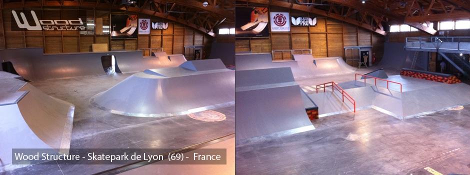 skatepark de lyon gerland wood structure skatepark. Black Bedroom Furniture Sets. Home Design Ideas