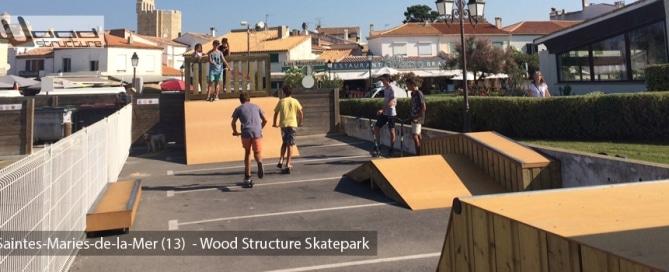 Portfolio archive wood structure for Bureau skate shop