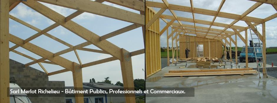 Wood structure taille de charpente bois depuis 1990 for Batiment structure bois