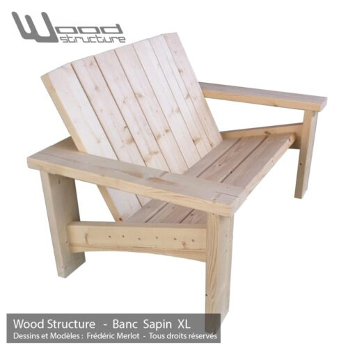 Banc bois mobilier de jardin design by wood structure for Table de salon mobilier de france