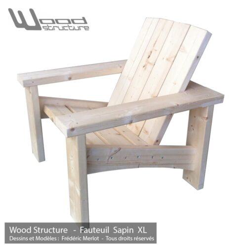 Fauteuil bois salon de jardin design by wood structure - Mobilier jardin kettler france mulhouse ...