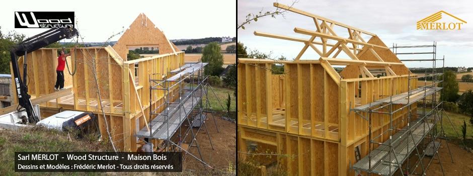 Maison Ossature Bois  Wood Structure