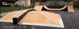 Fabricant de Skatepark depuis 1990 - Skatepark Public et privé - Skatepark extérieur et intérieur - fabriqués par la Sarl Merlot à Richelieu (37) et conçus par Wood Structure Skatepark , Fabricant de Skatepark depuis 1990