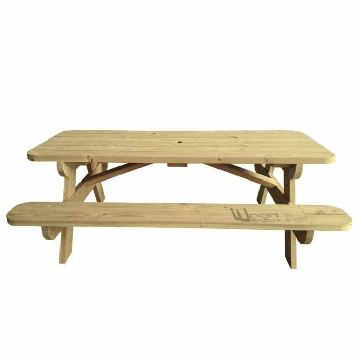Table pique nique TLS220 Wood Structure Table picnic Solide et robuste fabrique en France