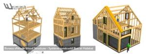 Taille de Charpente Bois sur-mesure - Kit Charpente Bois - Maisons bois - Bâtiment Bois - Aménagements Extérieur - Extension bois - Wood Structure Charpente