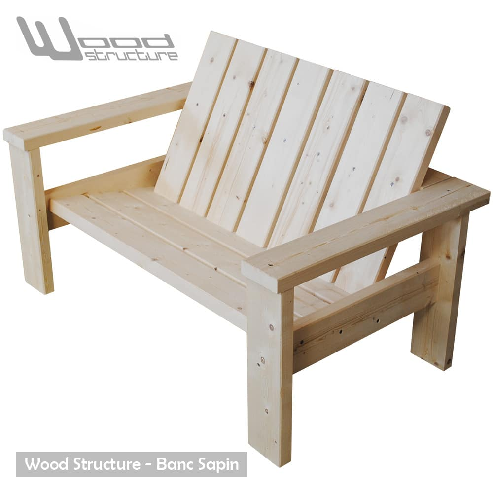 banc sapin du nord banc de jardin wood structure. Black Bedroom Furniture Sets. Home Design Ideas