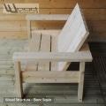 Banc sapin du nord - Design Wood Structure - Fabriqué en France par la Sarl Merlot - Fauteuil - Banc - Mobilier bois et Salon de Jardin