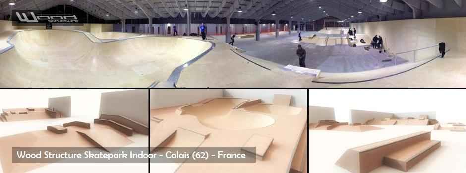 Skatepark de Calais - Module et rampe de skate - Wood Structure Skatepark
