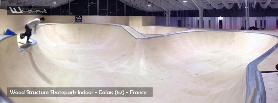 Skatepark indoor de calais - Wood Structure - Fabricant de Skatepark depuis 1990