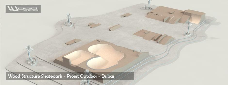 Projet de Skatepark - Module Skate Street et Bowl - Wood Structure - Fabricant de Skatepark depuis 1990