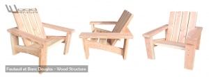 Mobilier bois - Fauteuil, Banc, Table de pique-nique, Wood Structure