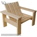 Fauteuil Sapin du nord - Design Wood Structure - Fabriquée en France par la Sarl Merlot - Fauteuil Banc - Mobilier bois et Salon de Jardin