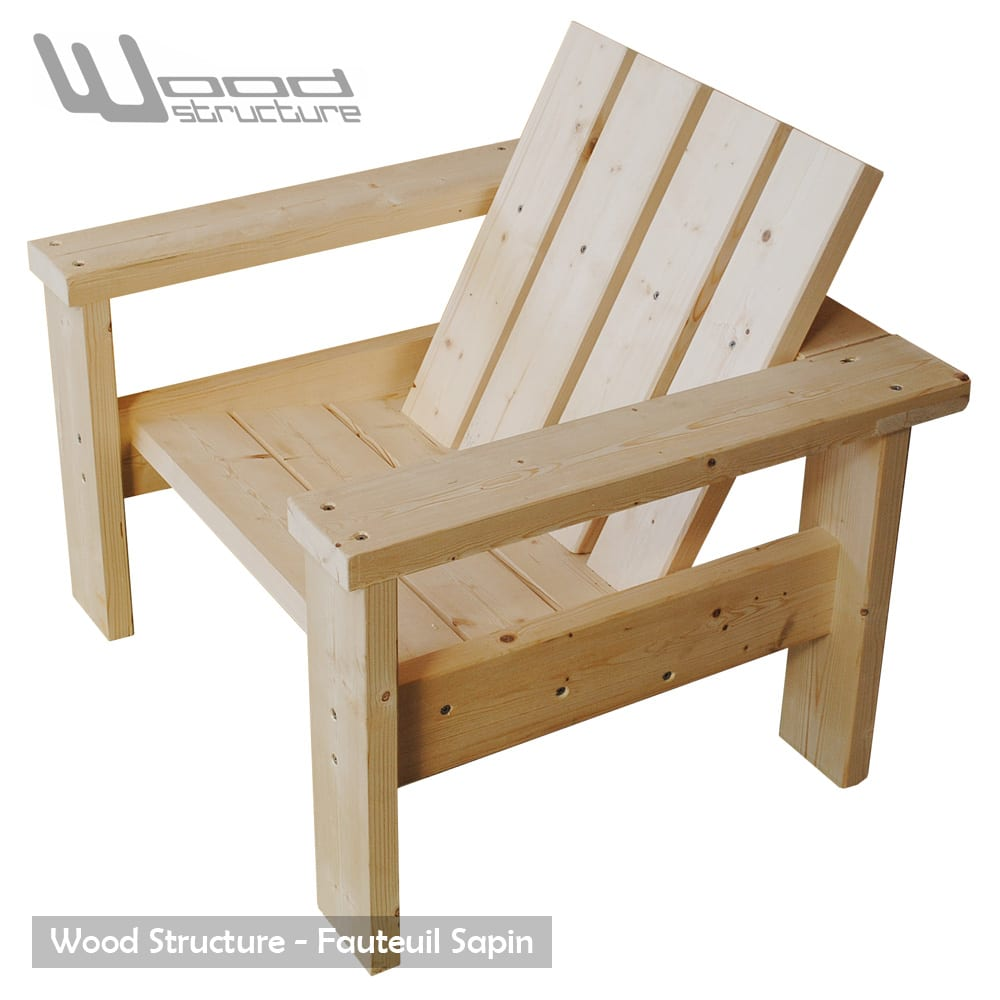 Fauteuil sapin fauteuil design wood structure for But mobilier de jardin