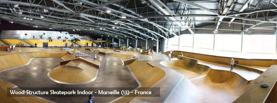 Skatepark de Marseille - Aire de Street & Bowl by Wood Structure Skatepark
