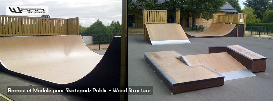 Mini Rampe Skatepark - Wood Structure