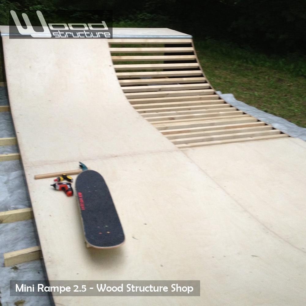 mini rampe skate 2 5 design wood structure. Black Bedroom Furniture Sets. Home Design Ideas
