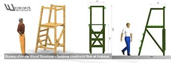 Mobilier de loisirs - Mirador - Cabane - Jeux - Sapin du Nord - Douglas et Autoclave - Wood Structure - Richelieu - France