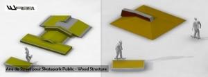 Module Skate et Rampe Skate - Wood Structure Skatepark - Catalogue ligne 2013 - 2014