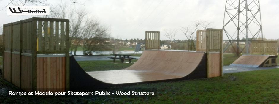 Rampe Skate - Wood Structure - Fabricant de rampe pour Skatepark depuis 1990