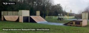 Skatepark de Joué-les-Tours (37) - Module Skate - Wood Structure