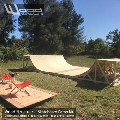 Rampe Skate Kit - Rampe de Skate en kit pré-fabriquée - Wood Structure Skatepark