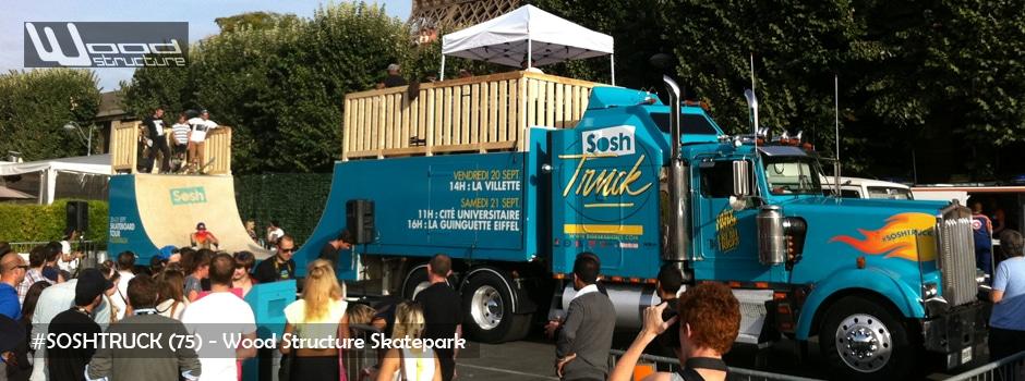 Rampe sur camion Sosh Truck à Paris - Wood Structure Skatepark