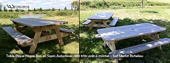 Mobilier Bois - Fauteuil, banc, salon et Table de Jardin - Caillebotis pour terrasse bois - Mirador - Kit Rampe Skate - WOOD STRUCTURE
