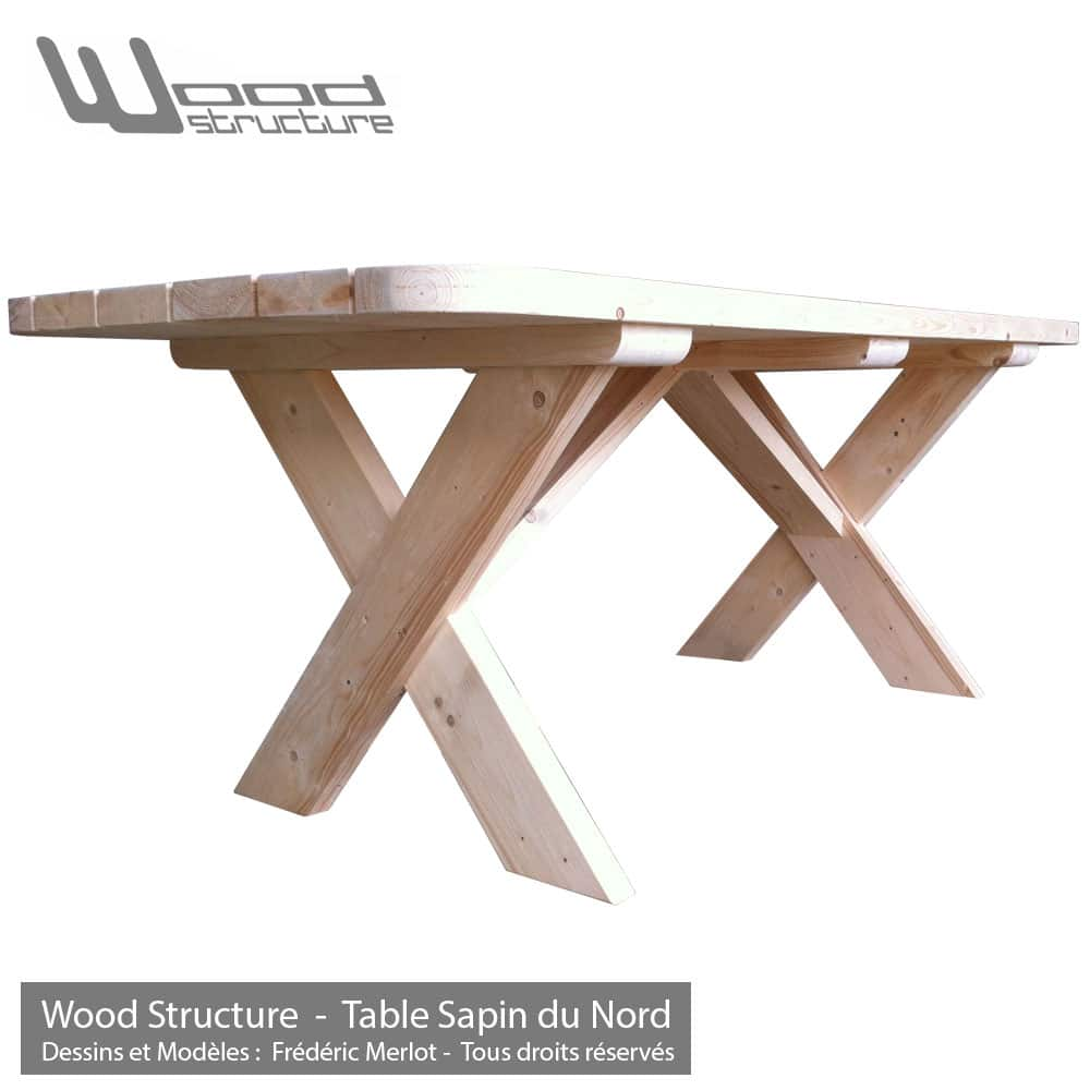Best salon de jardin bois sapin photos awesome interior for Table structure
