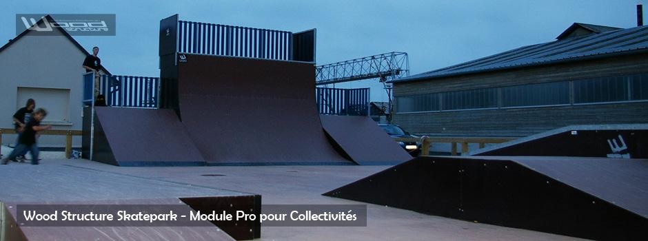Module Skate - Wood Structure - Fabricant de Skatepark depuis 1990