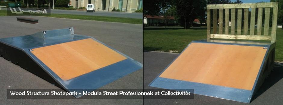 Module Skate Roller et Bmx pour Pro et Collectivité  Wood  ~ Construire Une Rampe De Skate En Bois