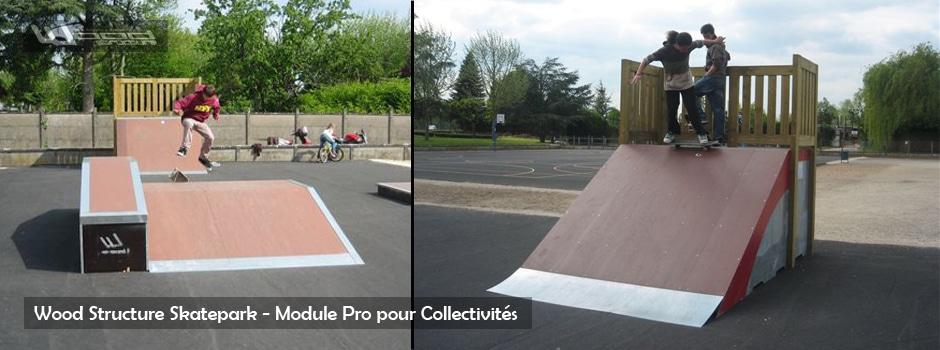 Module Skate Street - Wood Structure - Fabricant Skatepark depuis 1990