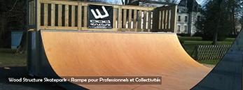 Fabricant de Skatepark depuis 1990 - Wood Structure - Bowl & rampe skate pour particuliers et collectivités