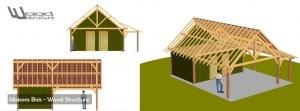 Maison Bois - Wood Structure - Bureau Etude Construction Bois et Habitat Ossature bois BBC - Charpente Bois -Richelieu - Indre et Loire Région Centre - France