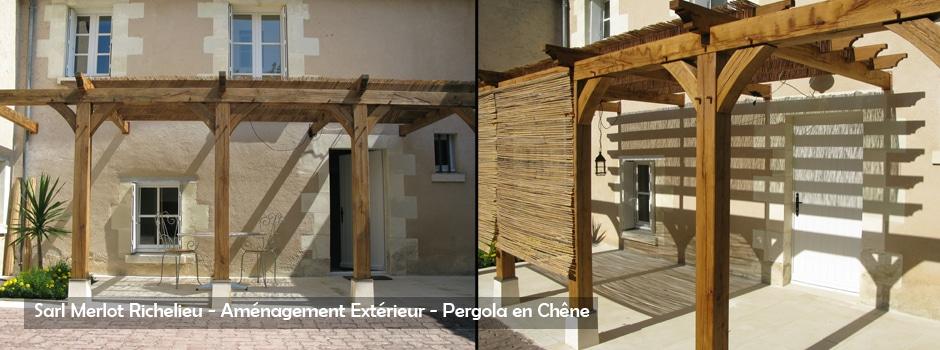 Pergola bois wood structure for Modele de tonnelle en bois