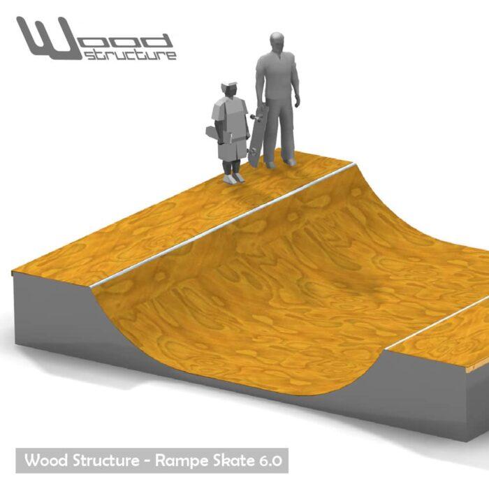Rampe skate 6.0 - Kit mini rampe skate roller bmx trottinette - Kit prêt à monter - Wood Structure - Fabricant de Skatepark depuis 1990