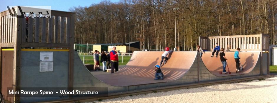 Rampe de Skate - Rampe Spine - Wood Structure - Fabricant de Skatepark depuis 1990