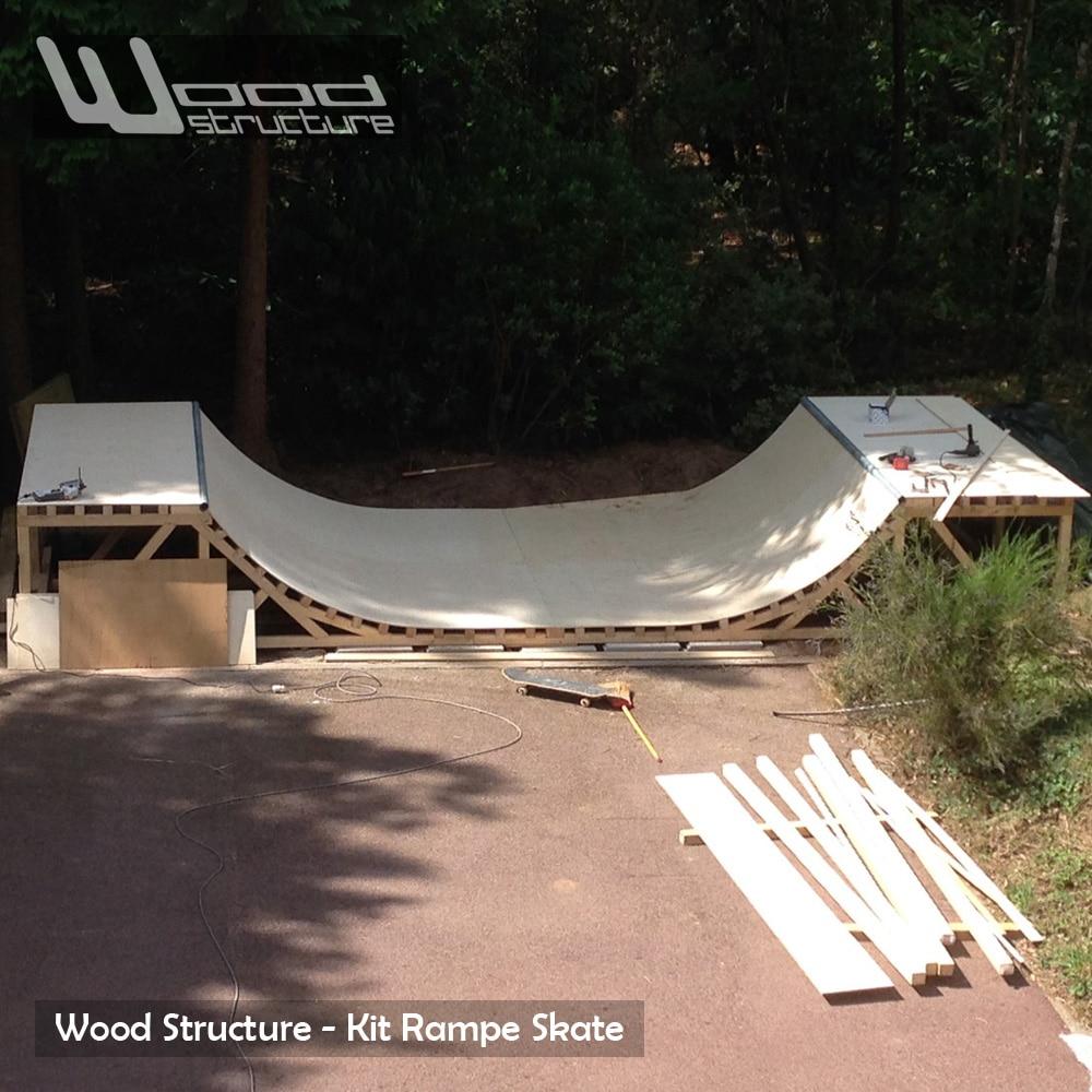 Kit Rampe Skate - Rampe skate, roller, bmx, trottinette, prêt à monter - Wood Structure Skatepark